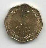 Chile  5 Pesos 2009. - Chili