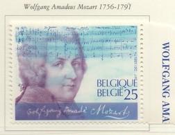 PIA - BEL - 1991 : Bicentenario Della Morte Di Wolfgang Amadeus Mozart   - (Yv 2438) - Musique