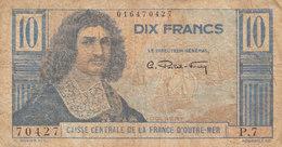 Billet 10 F Colbert AFRIQUE ÉQUATORIALE FRANÇAISE 1946 P.21 Ou K.532b CAISSE CENTRALE DE LA FRANCE D' OUTRE MER - Autres