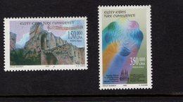 673078162 TURKISH CYPRUS 2000 POSTFRIS MINT NEVER HINGED POSTFRISCH EINWANDFREI SCOTT 501 502 MUSIC FESTIVAL BELLAPAIS - Chypre (Turquie)