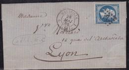 France, Bouches Du Rhone - Yvert 14B (type 2) Sur LAC De Marseille De 1845 - Marcophilie (Lettres)