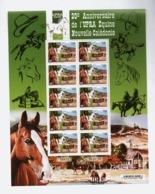 NC1 Nouvelle-Calédonie 2018 Chevaux  20ème Anniversaire De L'UPRA Equine Horses Luxe Mnh - Unused Stamps