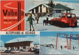 Altopiano Di Asiago, Gallio (Vicenza): Sciovie Valbella. Scritta 1975 Non Viaggiata - Vicenza