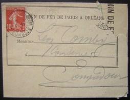 Pompadour (Corrèze) 1915 Chemin De Fer De Paris à Orléans, Avis D'arrivage - 1877-1920: Semi Modern Period