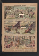 """Imagerie QUANTIN - """"Les Chasses De TARTARIN""""- Format 270 X 360mm - Trade Cards"""