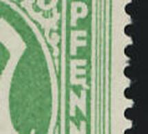 Bizone MiNr. 12 **, Mit Plattenfehler III (s. Skan); A-3278 - Bizone