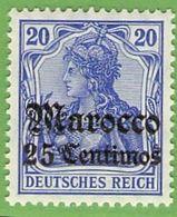 MiNr. 49 Xx  Deutschland Deutsche Auslandspostämter Marokko - Deutsche Post In Marokko