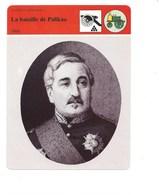 Indochine Chine Bataille De Palikao Le Comte De Palikao Fiche Illustrée 16 X 20 Cm 2 Scans TB Colonies Françaises - Histoire