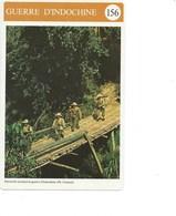 Indochine La Guerre Fiche Illustrée 11x 17cm  2 Scans TB Colonies Françaises - Histoire