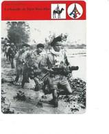 Indochine La Bataille De Dien Bien Phu Fiche Illustrée 12 X 16 Cm  2 Scans TB Colonies Françaises - Histoire