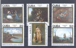1989  Kuba  Mi-3336-3341 20.November Gemälde Aus Dem Nationalmuseum Havanna - Cuba