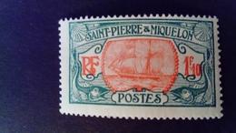 Saint Pierre Et Miquelon 1922 Bateau Boat Yvert 117 * MH - St.Pierre & Miquelon