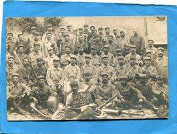 """Guerre 14-18 Carte Photo--poilus Du 33°-1915- La Musique  -gros Plan Animé""""*-1915 - War 1914-18"""