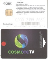 Greece-COSMOTE Tv Satellite Card(Country Of Origin UK) Chip Z (VGCA-XE05K07/1=),used - Autres Collections