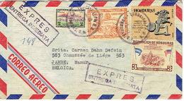 1965 EXPRESS AIR MAIL HONDURAS Cover Multi Stamps TEGUCIGALPA To JAMBE (Belgium) - Honduras