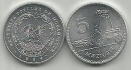 Mozambique 5 Meticais 1986. - Mozambique