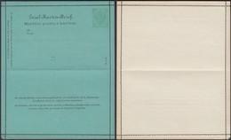 Austria 1888 - 3 Kr. Bosnia And Herzegovina, Postal Stationery Letter Card / GA Kartenbrief, MiNr. K 3. - Postwaardestukken