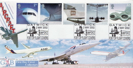 Great Britain Set On FDC - Airplanes