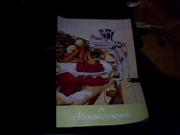 Publicité Catalogue  ALEXANDERWERK Materiel De Cuisine Paul Van Thune Paris Annee 50/60 - Autres
