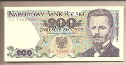 Polonia - Banconota Non Circolata Da 200 Zloty P-144b.2 - 1982 - Polonia