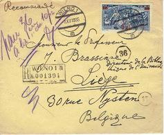 POLAND 1935 REGISTERED COVER WILNO 1a To LIEGE (Belgium) - 1919-1939 Republik