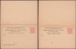 Austria 1891 - 5 + 5 H. Bosnia And Herzegovina, PS W. Reply Card, GA Correspondenz-Karte M. Antwort MiNr. P 10. - Entiers Postaux