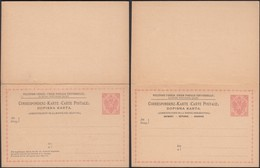 Austria 1891 - 5 + 5 H. Bosnia And Herzegovina, PS W. Reply Card, GA Correspondenz-Karte M. Antwort MiNr. P 10. - Postwaardestukken