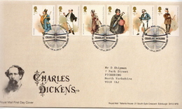 Great Britain Dickens Set On Used FDC - Fairy Tales, Popular Stories & Legends