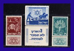 1951 - Israel - Sc0tt Nº 48 / 50 - MLH - IS- 052 - Israel