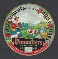 Etiquette De Fromage Petit Livarot  -  Laiterie De  Vimoutiers  (61) - Fromage