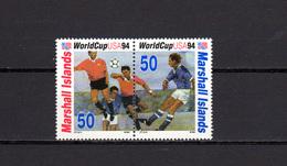 Marshall Islands 1994 Football Soccer World Cup Set Of 2 MNH - World Cup
