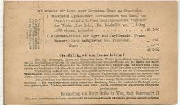 AUSTRIA 1876 ENTERO POSTAL PUBLICIDAD CALENDARIO DE CAZA JAGKALENDER HUNTING - Animalez De Caza