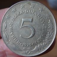 5 Dinars 1976 Yougoslavie - Yougoslavie