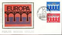 """[66195]N° 2130/31 1984 - FDC - Europa-Cept - """"MARIAKERKE"""", Pont, SC, Soie, SNC - FDC"""