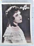 Ninon Vallin Autographe Dedicasse Sur Photo 1935 - Autógrafos