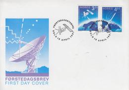 Enveloppe  FDC  1er  Jour   NORVEGE   Paire  EUROPA    1991 - 1991