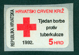 Croatia 1992 Red Cross Self-adhesive Stamp With  Michel 24 - Kroatië