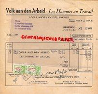 BELGIQUE-BRUSSEL BRUXELLES-VOLK AAN DEN ARBEID-LES HOMMES AU TRAVAIL-ADOLF MAXLAAN-1943  RARE - Old Professions