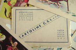 10 CARD 10 CARTOLINE 1° SERIE  FOLDER BOX ANNI 50 JACOVITTI - JAC 47 - CSI CENTRO SPORTIVO ITALIANO - ROMA - Jeux Olympiques