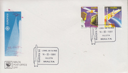 Enveloppe  FDC  1er  Jour   MALTE   Paire  EUROPA    1991 - 1991