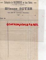 34- BEZIERS- RARE FACTURE ETIENNE BOYER ENTREPRENEUR MACONNERIE-MACON PLATRE CIMENT- ANNEES 1940 - Lebensmittel