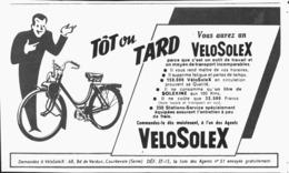 "PUB   "" VELOSOLEX ""   1951 ( 2 ) - Transports"
