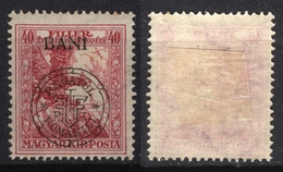 1919 Roman Occupation - Hungary - Cluj Napoca / Kolozsvár / Klausenburg  - EAGLE Sword WAR Aid - Overprint 40f BANI - Transylvanie