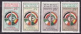 FRENCH AFRICA - 1960 - CONSEIL DE L'ENTENTE  - COMPLETE SET - MNH** LUX - Frankreich (alte Kolonien Und Herrschaften)