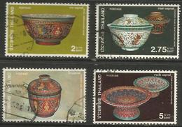 Thailand - 1980 Bencharong Ware Used    Sc 947-50 - Thailand