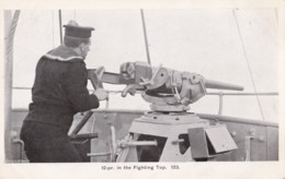 AN72 Royal Navy Postcard - 12-pr In The Fighting Top - Warships
