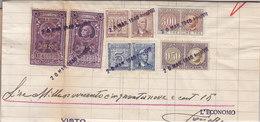 MARCHE DA BOLLO _ REGNO /  ITALY REVENUE FISCAL Su Documento Datato 1940 - 1900-44 Vittorio Emanuele III
