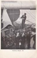 AN72 Royal Navy Postcard - Hoisting A Signal - Warships