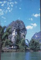 Hong Kong PPC Pierced Rock At Gaotian KOWLOON 1993 To Denmark $2.30 QEII Stamp (2 Scans) - China (Hongkong)