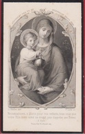 Eulalie Lombaerts Anvers Antwerpen Deurne 1895 Lith. Bellemans Freres Zeer Oud Doodsprentje Image Mortuaire - Images Religieuses